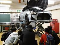 自動車整備のオープンキャンパス実演1